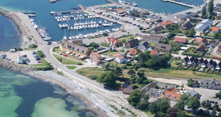 Rødvig Havn (luftfoto fra visitstevns.dk)