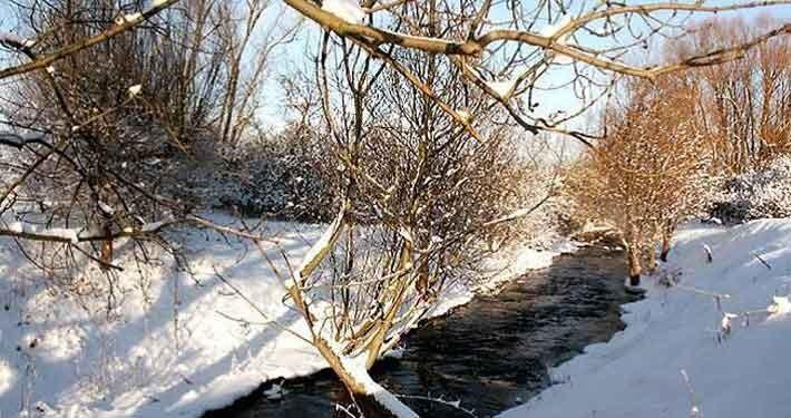 Vinterlandskab omkring Thorsvænge